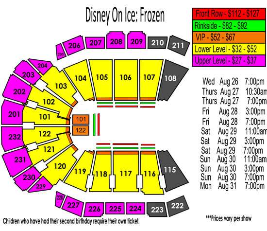 Disney On Ice presents Frozen Aug. 26-31